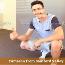 Thank You Cameron From Samford Valley For Your Carpet Cleaning Photo Review.