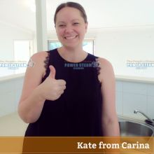 Power Steam Cleaning Customer Video Review from Carina | Bond Cleaning Brisbane