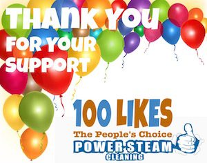 POWER STEAM CLEANING 100 LIKES ON FACEBOOK