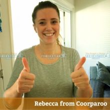 Thank You Rebecca From Coorparoo (Brisbane) For Upholstery Cleaning Review